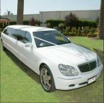 The MARILYN - 10 Pax Merc S Class Limousine - White,
